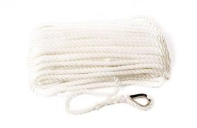 100 Metres x 14mm White Nylon Anchor Rope - Boat - Yacht