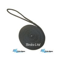 Black Pre-Spliced Polyester Braided Dockline - 14mm (6mtr)