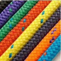 8mm Black Braid on Braid Polyester Rope - PER METRE