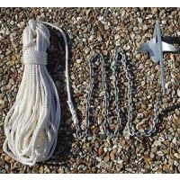 2Kg Bruce Anchor Kit With 20m x 8mm Rope & 2m x 6mm Chain