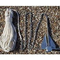 4.5Kg Danforth Anchor Kit With 20m x 10mm Rope & 2m x 6mm Chain