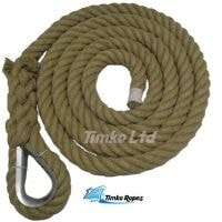 28mm Natural Hemp Gym Climbing Rope (Customise Upto 15m)