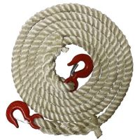 4 Metres x 24mm 3-Strand Nylon Recovery/Tow Rope With Eye Hooks