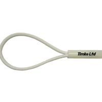 6mm White Bungee Cord Loop Swivel Ties With Swivel Toggle x 180mm