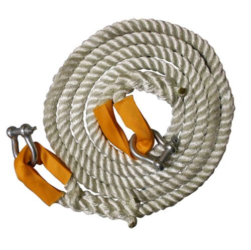12 Metres x 24mm 3-Strand Nylon Recovery/Tow Rope With Shackles