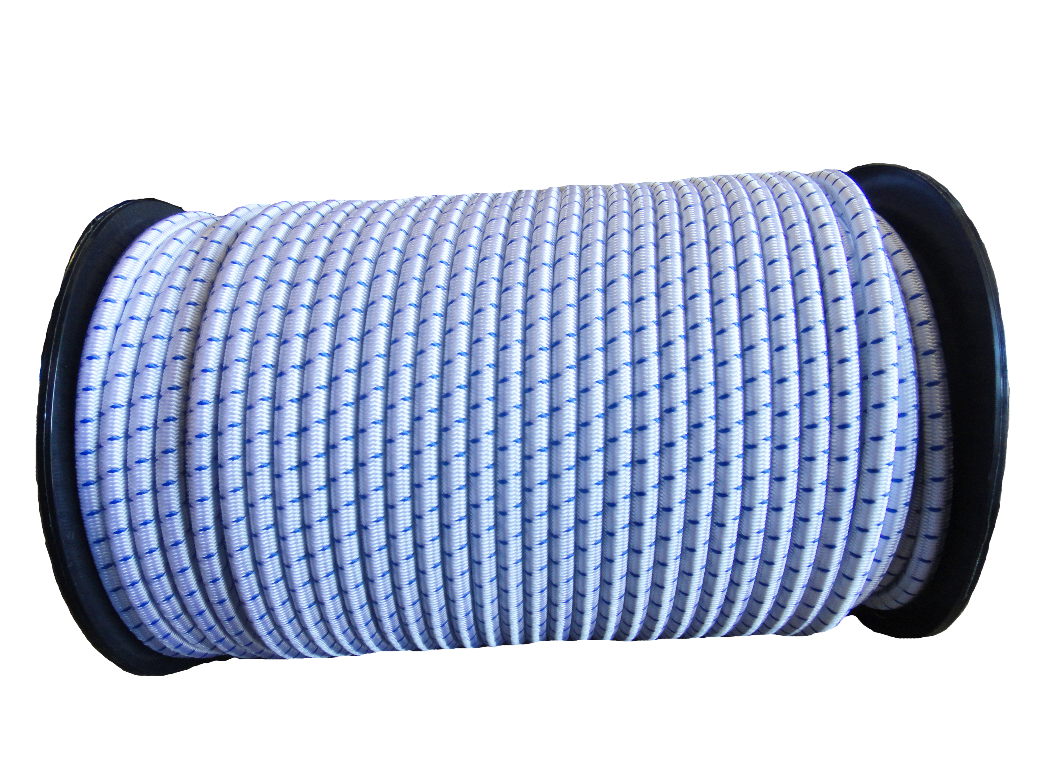 8mm White Blue Fleck Bungee Shock Tarp Cord